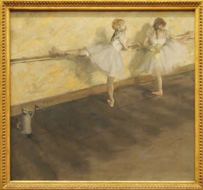 Dancers Practicing at the Barre,1877