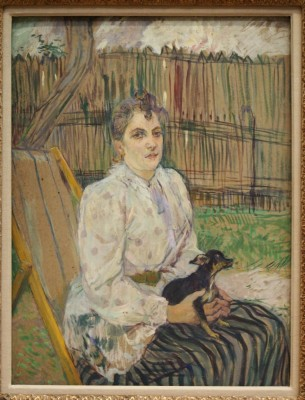 Lautrec Lady with a Dog,1891