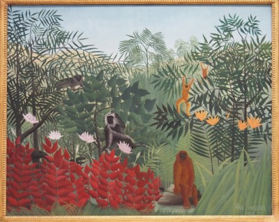 Rousseau Tropical Forest with Monkeys,1910