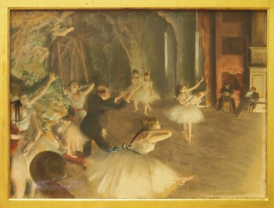 The Rehearsal of the Ballet Onstage,1874