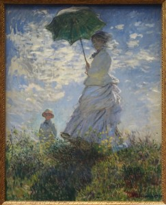Woman with a Parasol – Madame Monet and Her Son