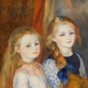 The Daughters of Catulle Mendès, Huguette (1871–1964), Claudine (1876–1937), and Helyonne (1879–1955),1888