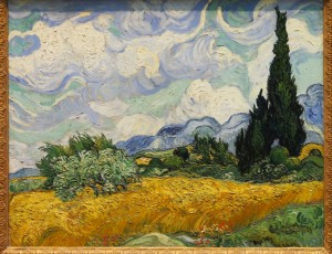 Wheat Field with Cypresses,1889