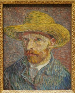 Self-Portrait with a Straw Hat (obverse: The Potato Peeler),1887